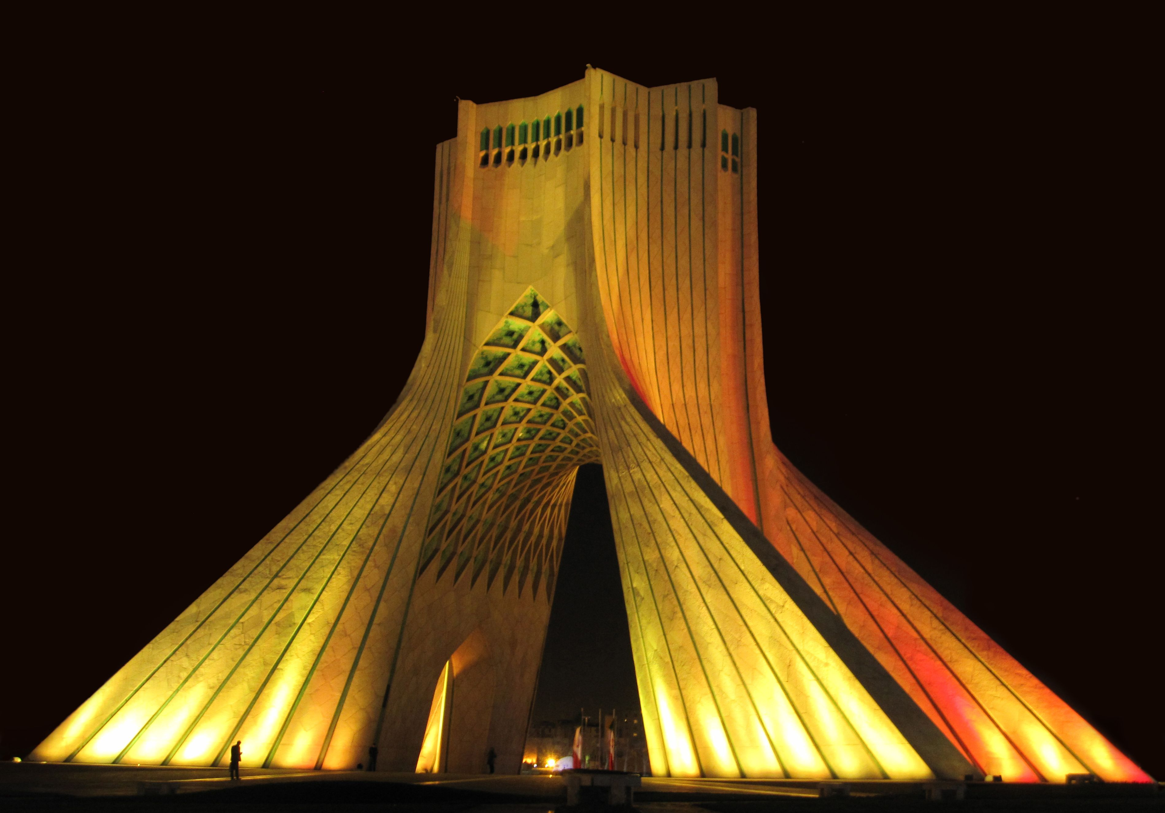 The azadi tower freedom tower previously known as the king azadi tower in tehran iran depicting persian architecture styles of various eras buycottarizona Choice Image