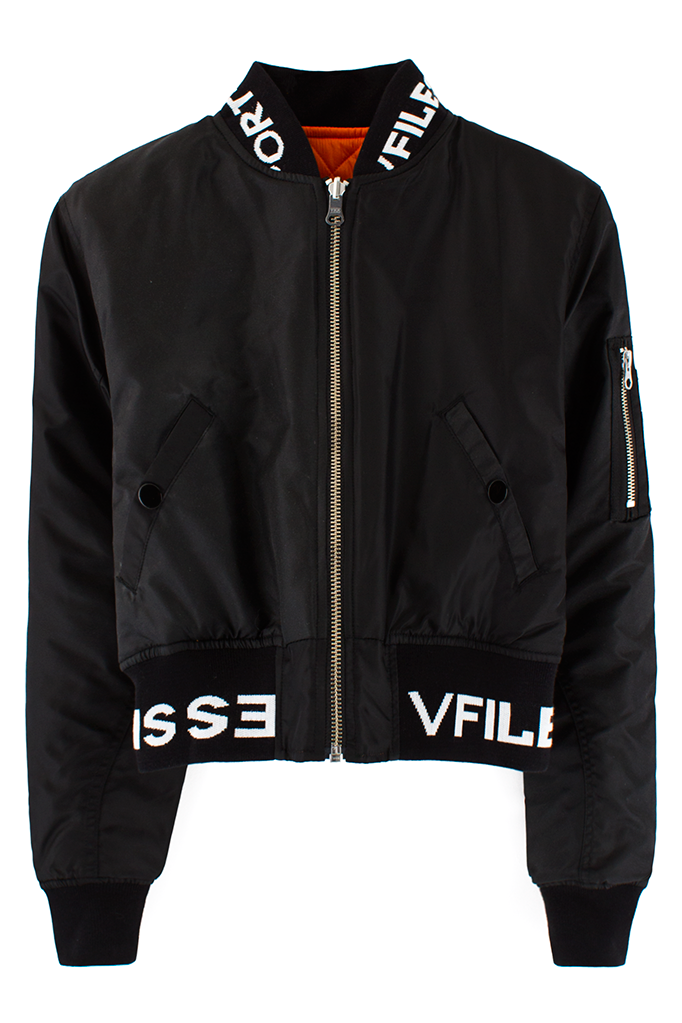 0c0826286 VFILES SPORT PLUS 2-WAY CROPPED BOMBER Reversible cropped bomber ...