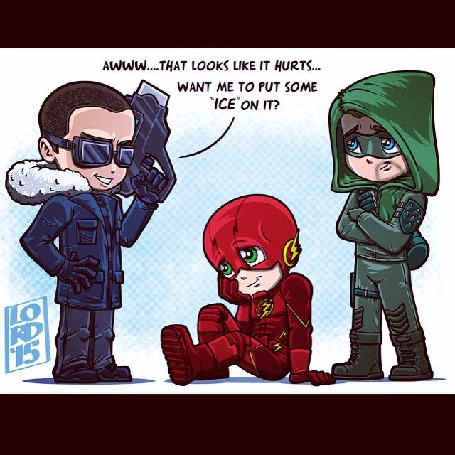 Welcome to the Club Arrow, Flash, Captain Cold fanart by ...