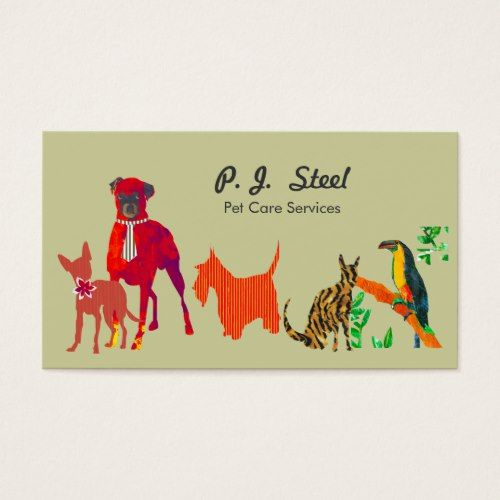 Watercolor Trendy Cute Animal Pets Dogs Cats Square