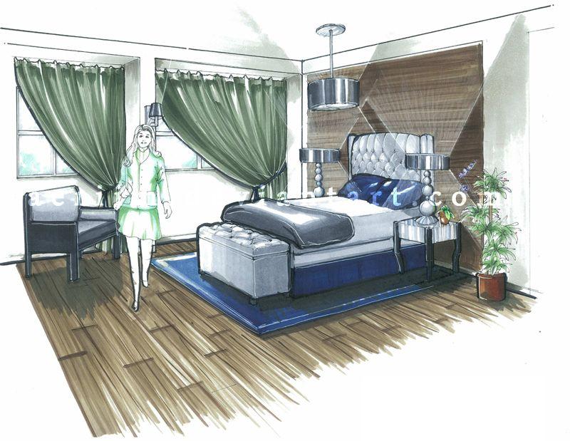 bedroom | Interior design tools, Interior design sketches ...