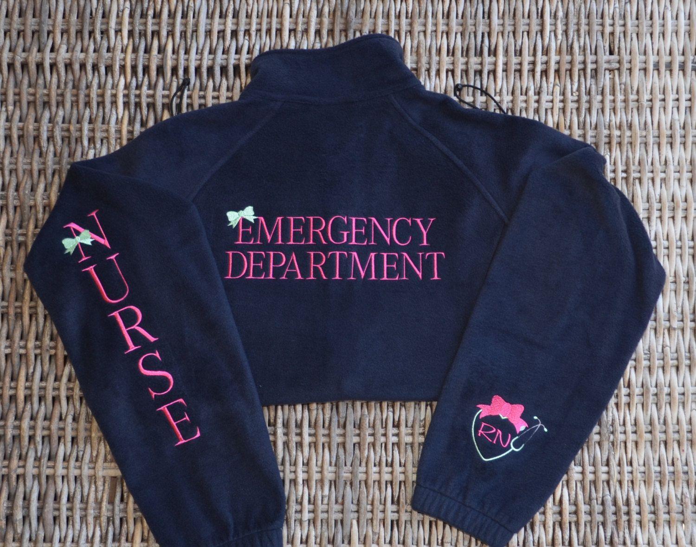 Orthopedic Nurse Embroidered Fleece Jacket