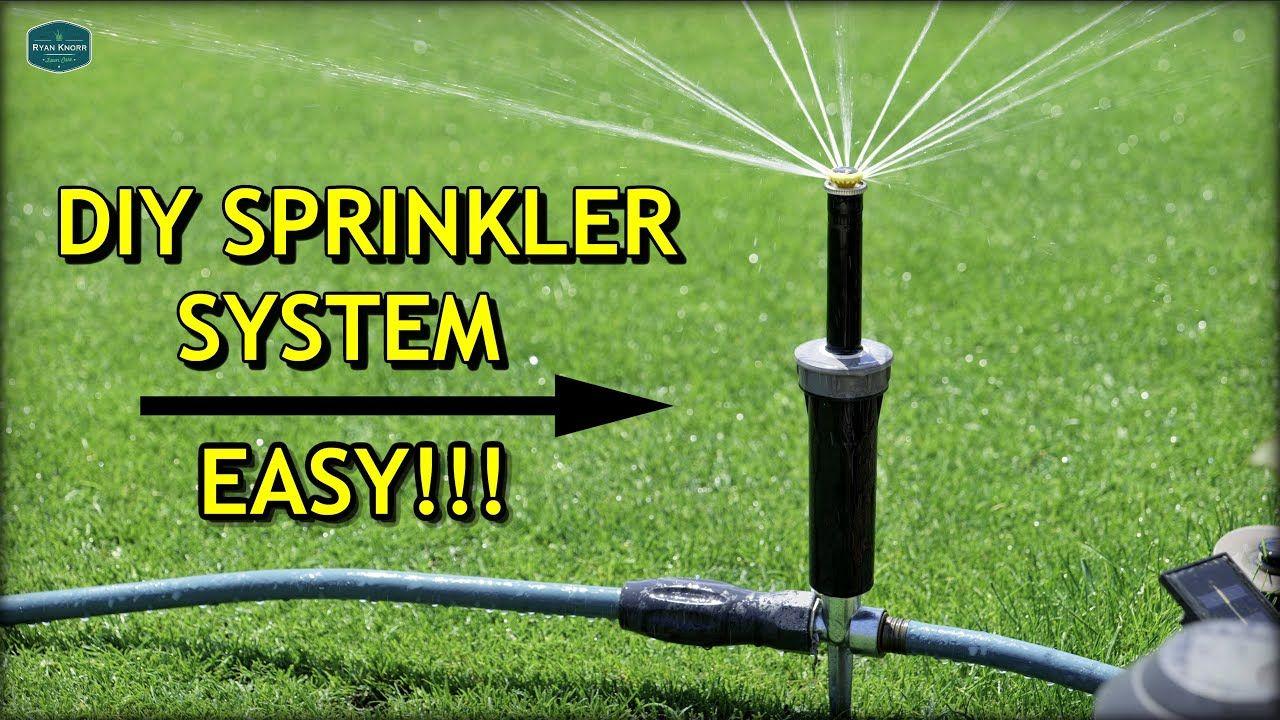 Diy above ground sprinkler system 2020 update youtube