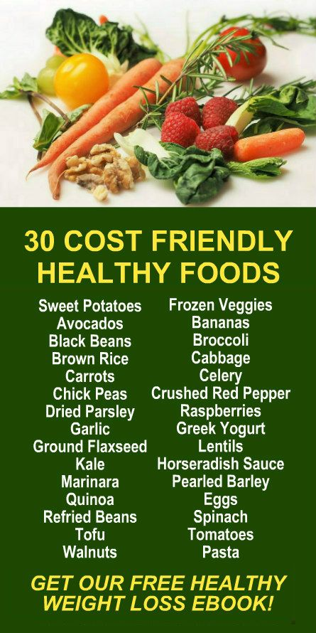 30 Cost Friendly Healthy Foods. Get our FREE weight loss eBook with suggested fitness plan, food diary, and exercise tracker. Learn about Zija's alkaline rich, antioxidant loaded, weight loss products that help your body detox, cleanse, increase energy, b