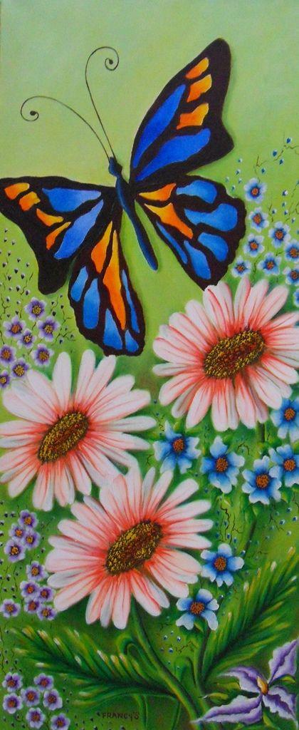 resultado de imagen para mariposas al oleo pinturas