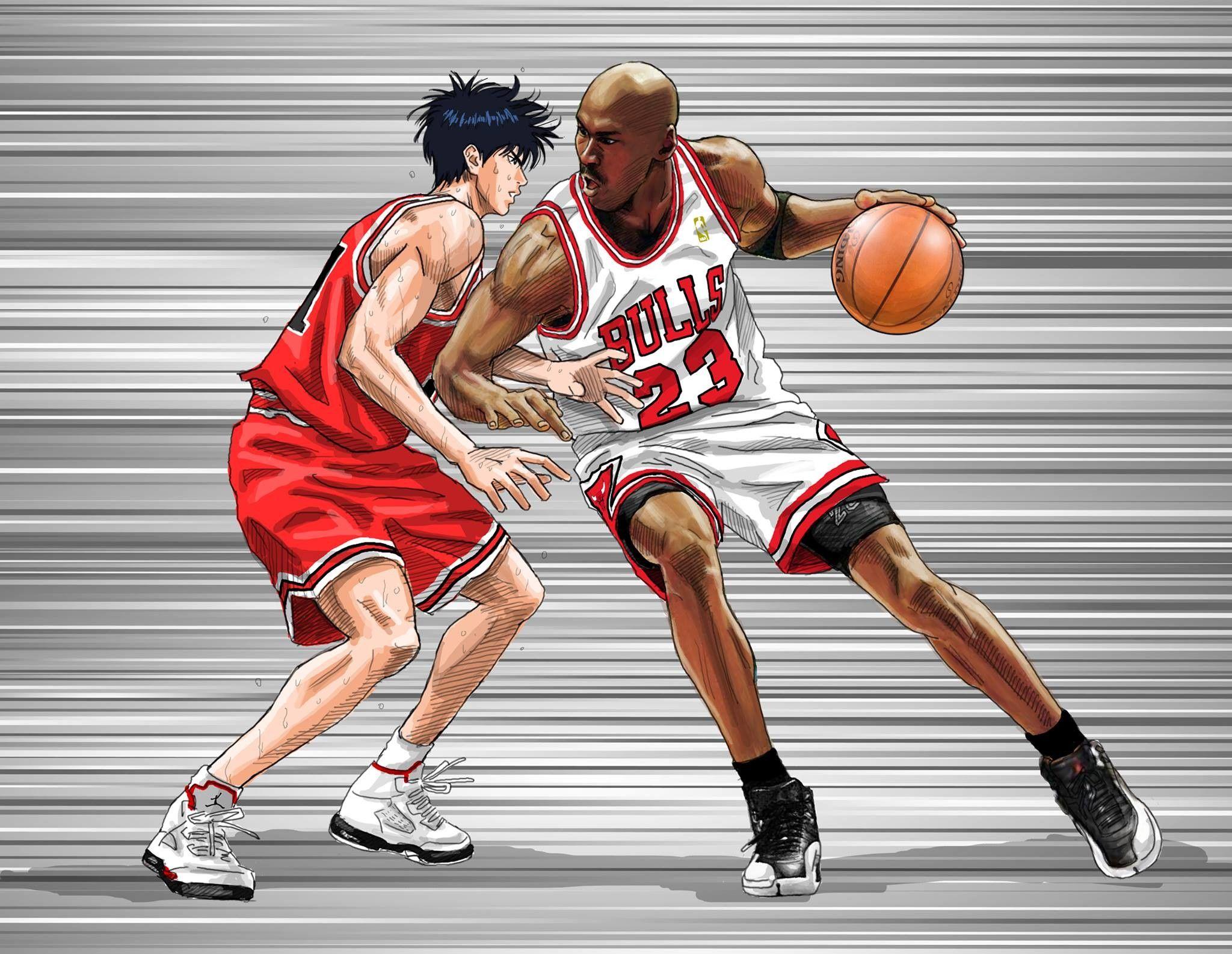 Image Result For Michael Jordan Dunk Wallpaper Michael Jordan Pictures Michael Jordan Slam Dunk Manga