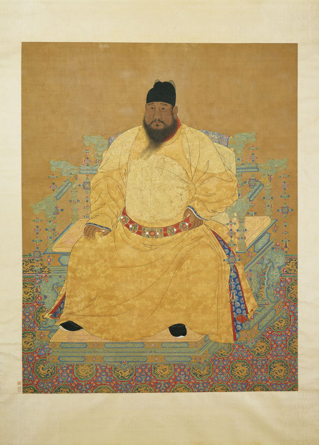 0dabaf3a7 Seated Portrait of the Ming Emperor Xuanzong Anonymous, Ming dynasty  (1368-1644) Hanging scroll, ink and colors on paper, 252.2 x 124.8 cm