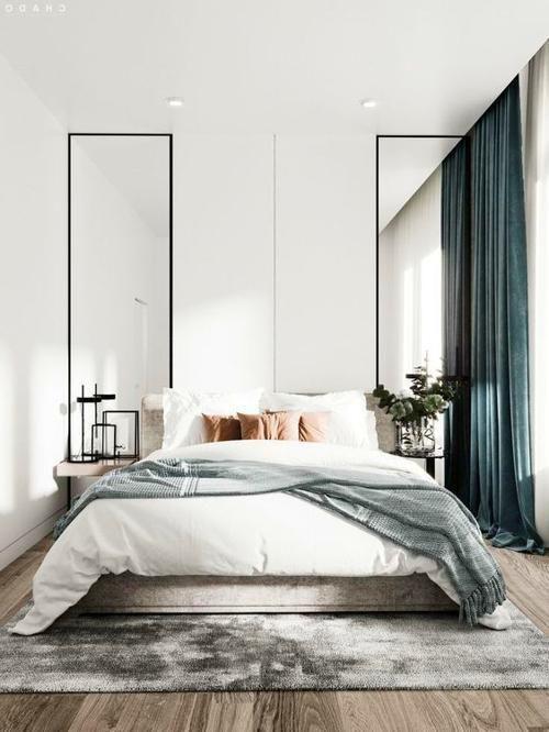schlafzimmer // bedrooms Grau & Blautöne entspannen im