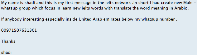 An IELTS Whatsapp group specifically for Arabic speakers! | Updates