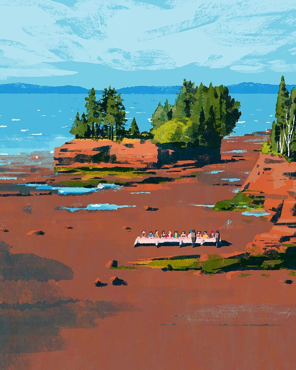 Nova Scotia #illustration #illustrator #tatsurokiuchi #art #drawing #life #lifestyle #happy #japan #people #木内達朗 #イラスト #イラストレーション