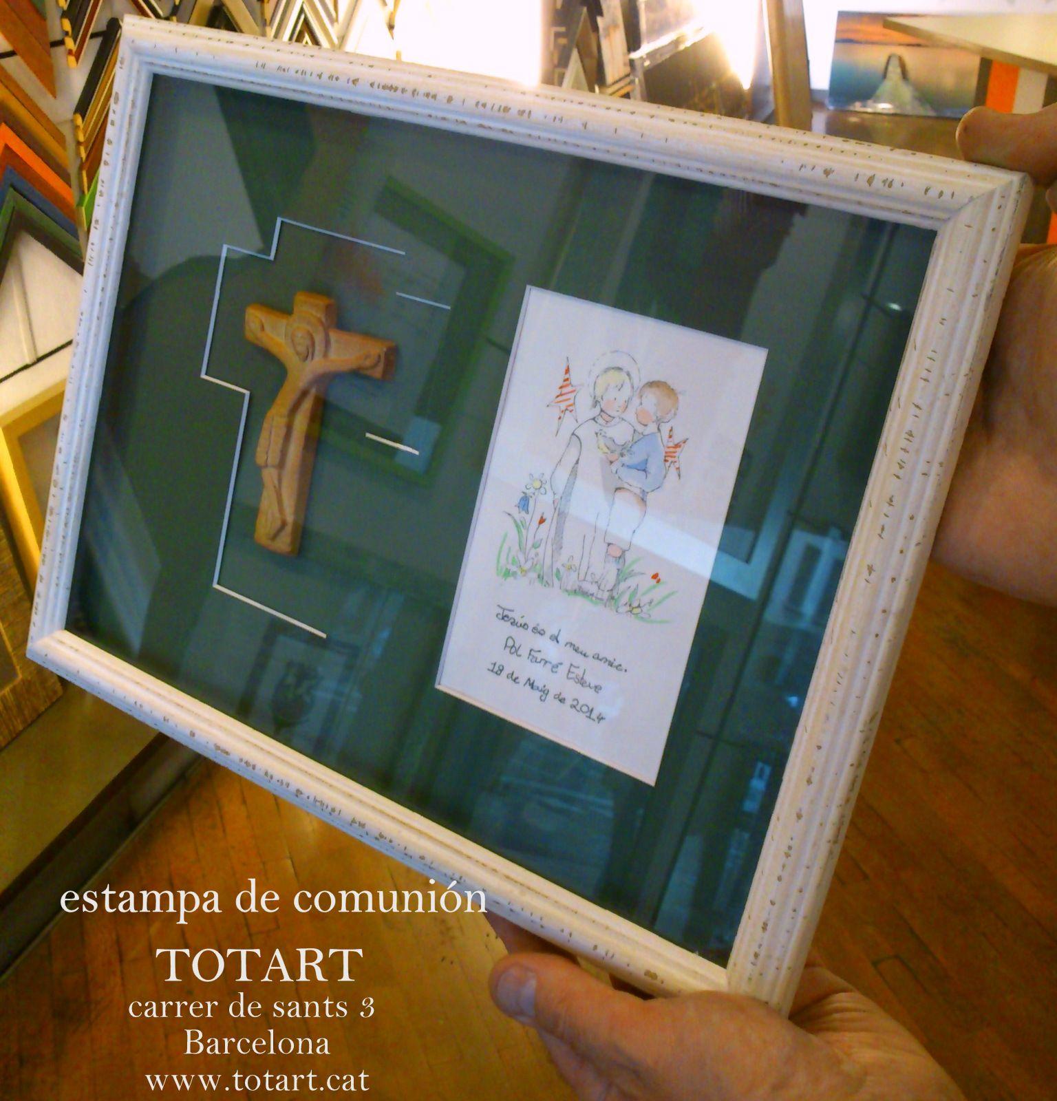 Enmarcación recordatorio de la Primera comunión. Ideas para enmarcar ...
