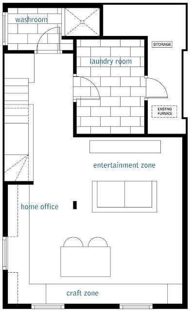 Rambling Renovators: The Basement: Kitchen Cabinetry Layout