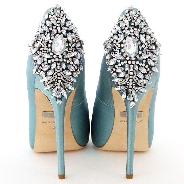 Cute Badgley Mischka Kiara in Blue Radiance A stunning platform bridal shoe that makes a fabulous