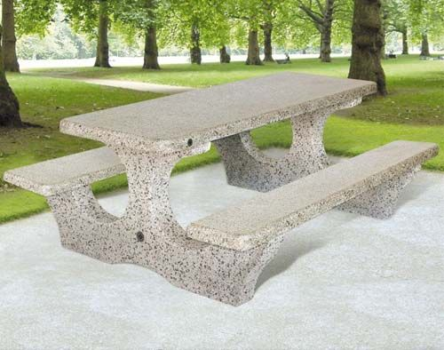 Concrete Outdoor Table With Benches Outdoor Tables Concrete Outdoor Table Chess Table