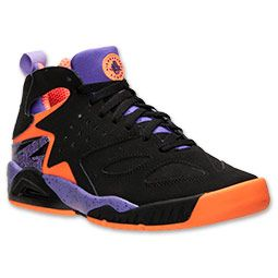 new arrivals 118df fa18d Men s Nike Air Tech Challenge Huarache Basketball Shoes   FinishLine.com    Black Atomic Orange Atomic Volt