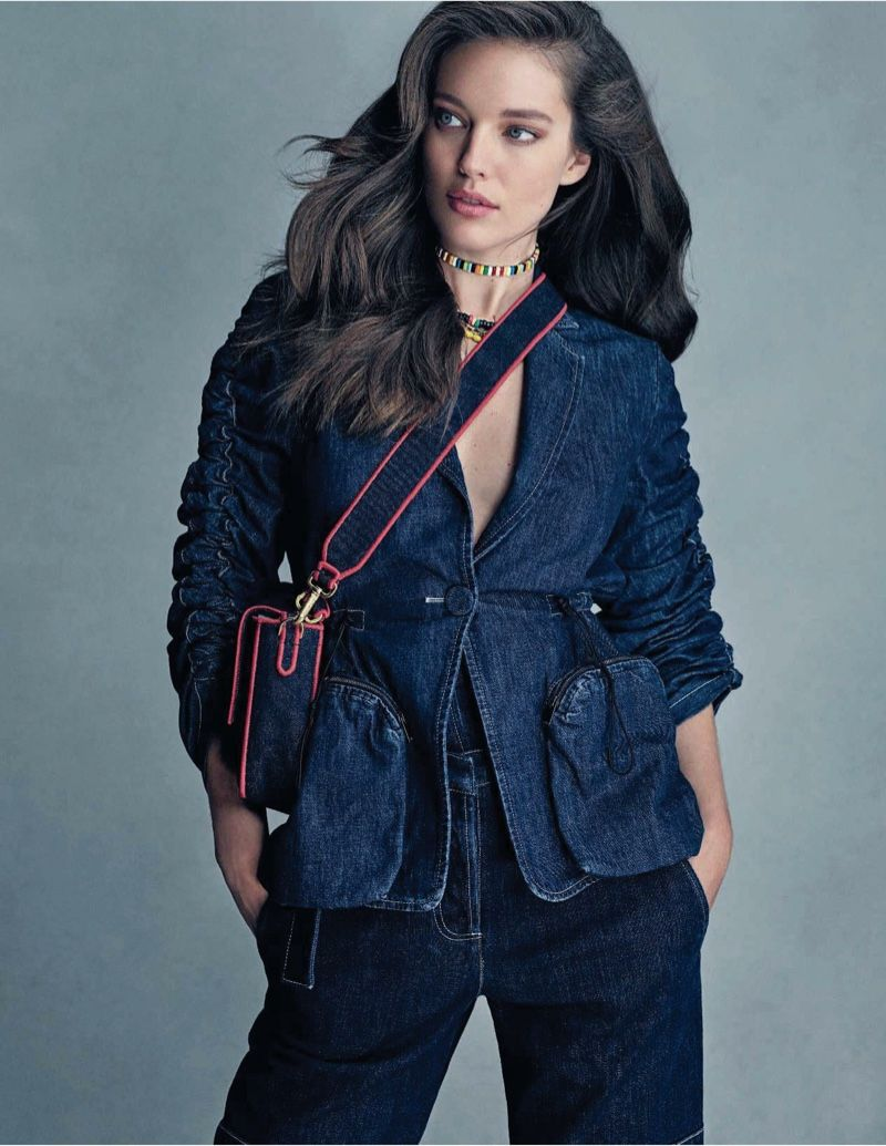 99c442ddc45 Emily DiDonato Models Cool Denim Styles for ELLE Italy