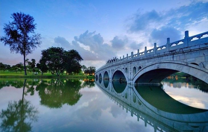 Beautiful photos of Chinese gardens Beautiful Pic ♥ #Places To - chinesischer garten brucke