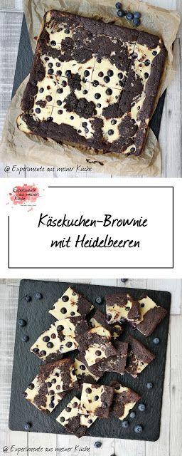 Käsekuchen-Brownie mit Heidelbeeren - Experimente aus meiner Küche #chocolatechipcookiedough