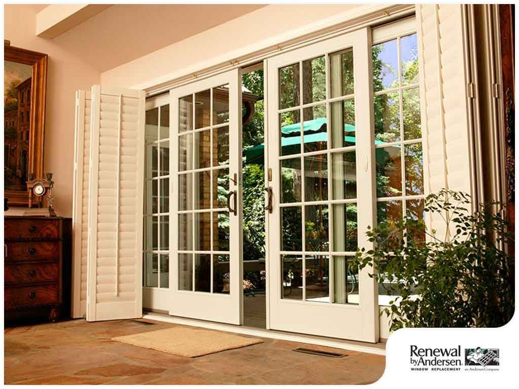 sliding french doors glass doors patio