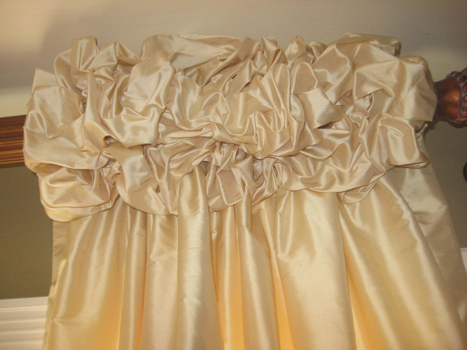 Gorgeous Ruched Top Drapes up to 100 inchs Long Single Width ...