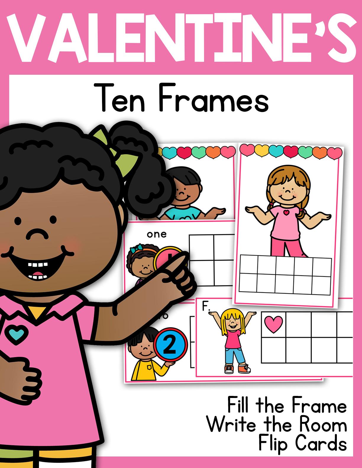 Valentine S Ten Frames 1 20 Write The Room Flip Cards