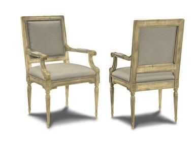 Hickory Chair Louis Xvi Adjustable Height High Shop For Square Back Arm 9751 01 And Other Dining Room Chairs At In Nc