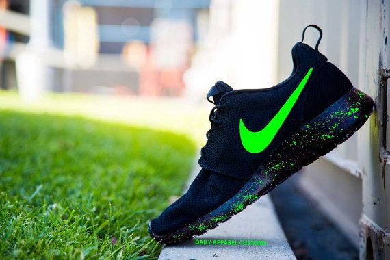 Hot Nike Rosherun Luminous lightweight mesh running shoes