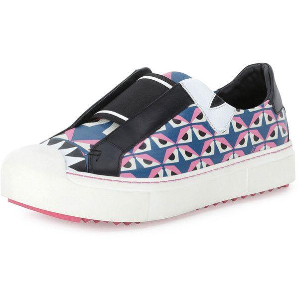 Fendi Bug Eyes Slip-On Sneaker (2 7ef7e091774