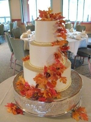 Items Similar To Gum Paste Autumn Leaves Gumpaste Wedding Cake Flowers On Etsy
