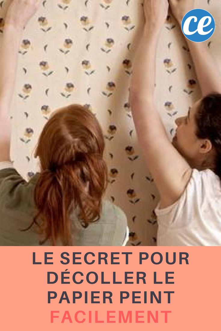 Astuce Pour Décoller Du Papier Peint le secret pour décoller le papier peint facilement. | papier