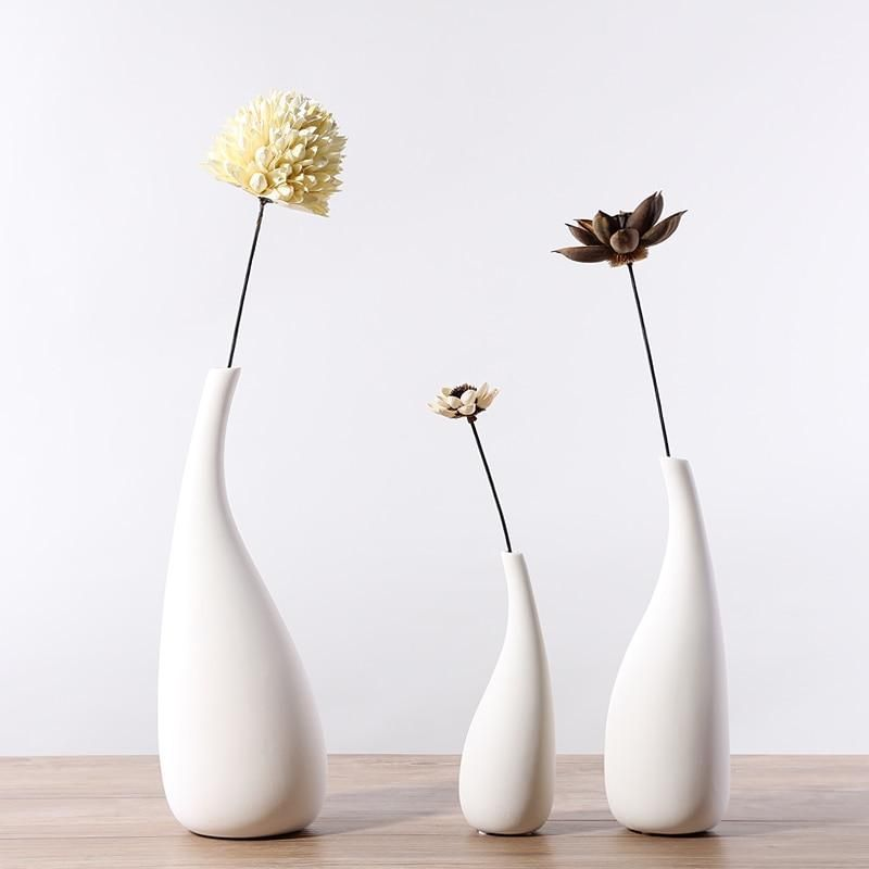 Nordic Decoration Home White Flower Vase Ins Small Fresh Simple Modern Living Room Home Decoration Flower Arrangement Ceramics In 2020 Nordic Decor White Flowers White Room Decor