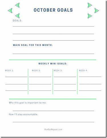 October Goals Plannerfree Printable Monthly Goal Setting Worksheet