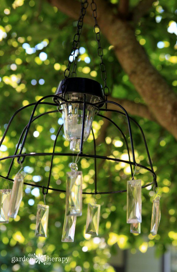 Fairy Light Project: DIY Solar Light Chandelier | Solar Light Chandelier, Solar  Lights And Solar