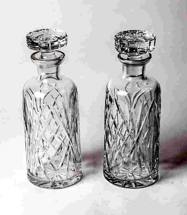 Add a touch of charm to any room with vintage decanters. They would be so cute with flowers in them.