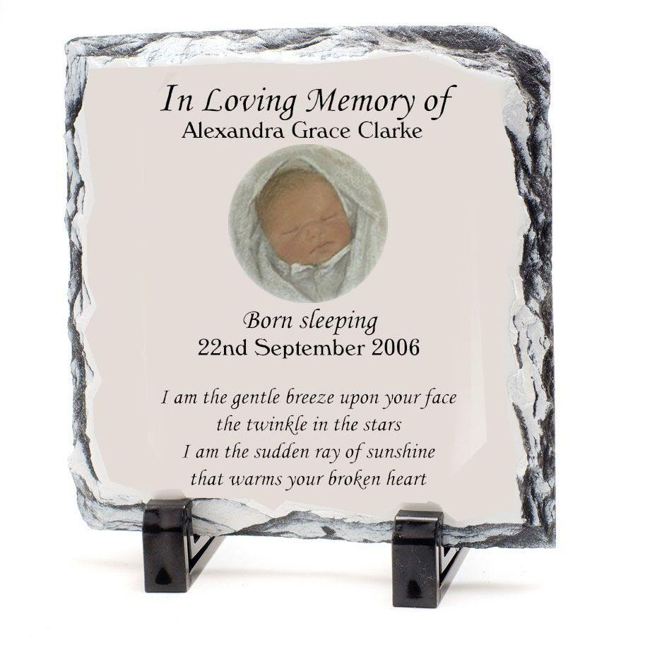 Personalised Slate Baby S Garden Grave Marker