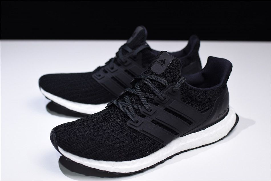 "4f7e61b73 New adidas Ultra Boost 4.0 ""Core Black"" Black White BB6166 For Sale"