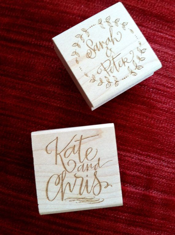 Custom Calligraphy Couples Name Stamp By