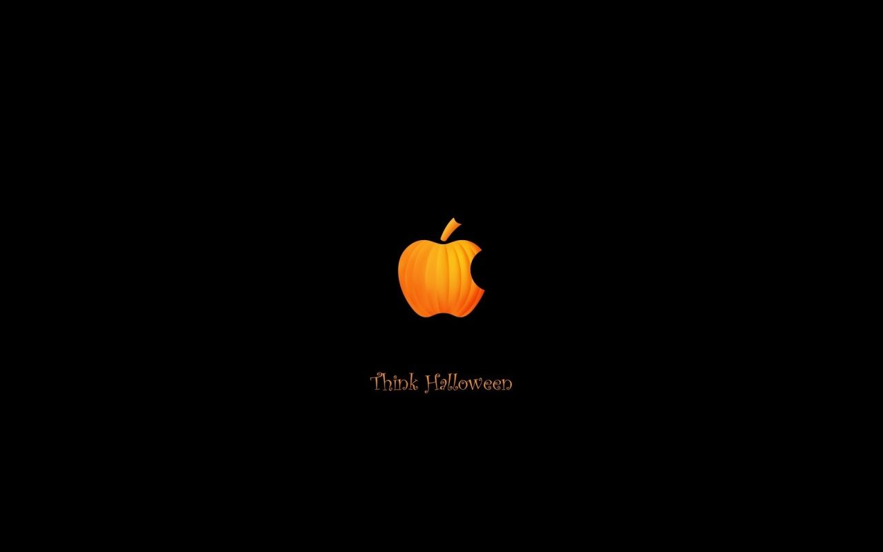 Pumpkin Apple Halloween Wallpaper Apple Wallpaper Ipod Wallpaper