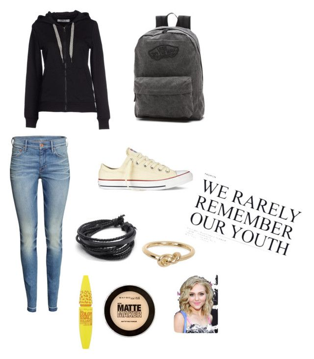 """""""Bleh!"""" by rla099274 ❤ liked on Polyvore featuring H&M, ONLY, Converse, Vans, River Island and Maybelline"""