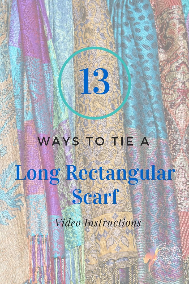 13 Ways to Wear a Pashmina or Long Rectangular Scarf ...