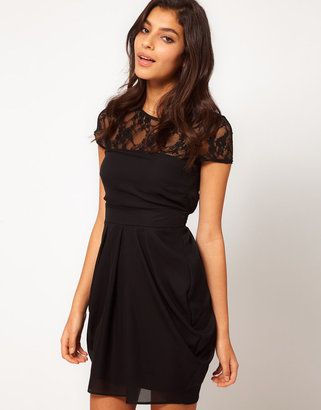 82ea9124400 ShopStyle  ASOS Tulip Dress With Lace Top