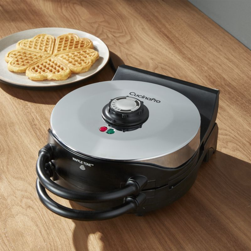 Cucinapro Heart Shaped Waffle Maker Crate And Barrel Waffle