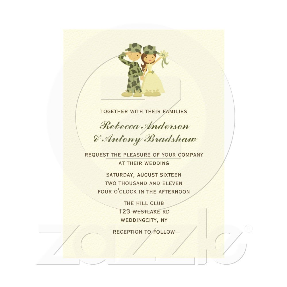 Pictures Of Military Wedding Invitations | Lenq.me