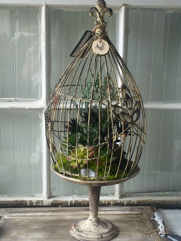 Wholesale Faux Succulents Centerpiece Birdcage Natural Moss Geode Home Accents | eBay