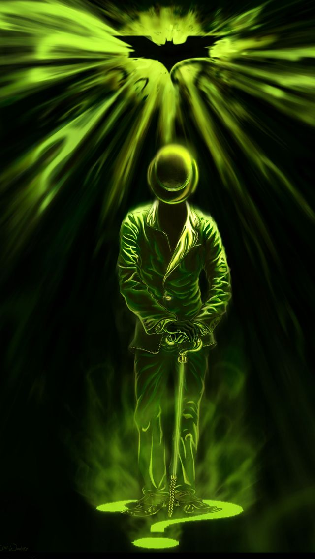 Batman Riddler iPhone 5 Wallpaper