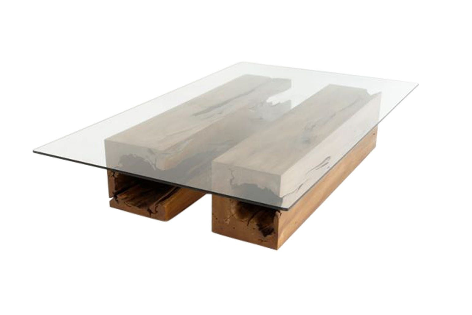 Twin Coffee Table Midcentury Modern Glass Coffee Cocktail Table
