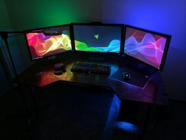 Custom Gaming Desk Diy Desk Plans Diy Desk Gaming Desk Diy