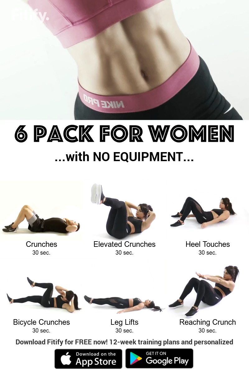 NO EQUIPMENT Flat belly Routine Ab workout that will get you a shredded six pack in no time. Downloa...