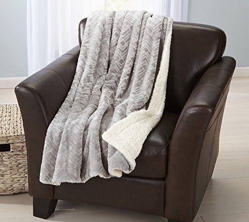Reversible Berber Velvet Plush Luxury Throw Blanket Pewter Luxury Throw Blankets Plush Throw Blankets House Styles