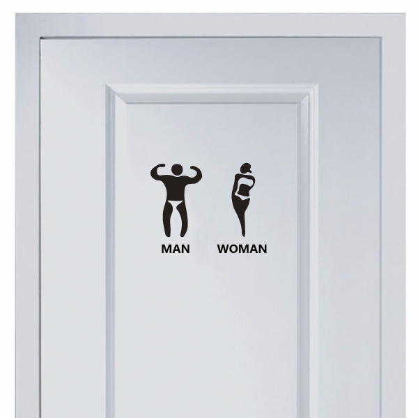 5 00 Marks For Men And Women S Toilet Sticker Diythinker Diy Wall Stickers Wall Stickers Rooster Art
